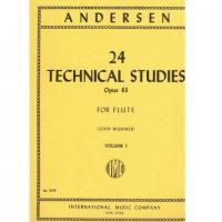 Andersen 24 Technical Studies Opus  63 FOR FLUTE (John Wummer) Volume 1 - International Music Company