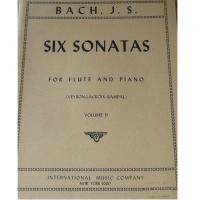 Bach J.S. SIX SONATAS Volume II For Flute and Piano (Rampal & Veyron-Lacroix) - International Music Company