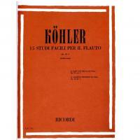 Kohler 15 Studi facili per il flauto Op. 33 - I (Fabbriciani) - Ricordi