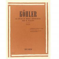 Kohler 12 Studi di media difficoltà per il flauto Op. 33 - II (Fabbriciani) - Ricordi