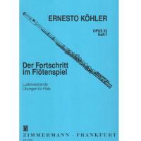 Kohler Opus 33 Heft 1 Der Fortschritt im Flotenspiel - Zimmermann Frankfurt
