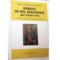Pietro Grattoni d' Arcano SONATA IN SOL MAGGIORE per flauto solo - Pizzicato
