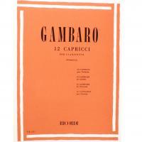 Gambaro 12 Capricci per clarinetto (Giampieri) - Ricordi
