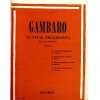 Gambaro 22 Studi progressivi per clarinetto (Giampieri) - Ricordi