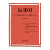 Gabucci 20 Studi di media difficoltà per clarinetto - Ricordi