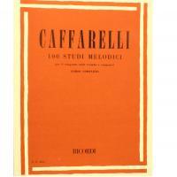 Caffarelli 100 Studi melodici per il trasporto nella tromba e congeneri Corso completo - Ricordi