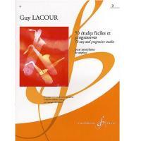 Guy LACOUR 50 études faciles et progressives pour saxophone 2 - Gerard Billaudot