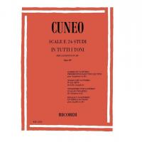 Cuneo SCALE e 24 STUDI IN TUTTI TONI per saxofono in Mi b Op. 197 - Ricordi