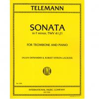 Telemann SONATA in F minor, TWV 41:f1 for Trombone and Piano - International Music Company