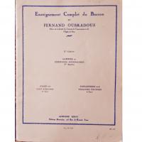 Enseignement Complet du Basson par Fernand Oubradous 1° Cahier Scales and Daily Exercises 1st part - Alphonse Leduc