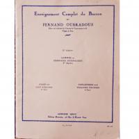 Enseignement Complet du Basson par Fernand Oubradous 1° Cahier Scales and Daily Exercises 1st part - Alphonse Leduc