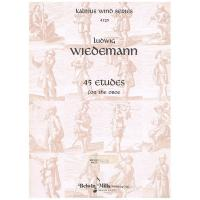 Kalmus wind series Ludwig Wiedemann 45 Etudes for the Oboe - Belwin Mills