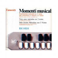Egidio Carnovich Momenti musicali Facilissime melodie su 5 note per armonica a bocca o a tasto - Ricordi