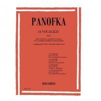 Panofka 24 Vocalizzi Op. 81 per contralto baritono o basso - Ricordi