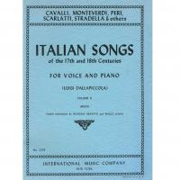 Italian Songs of the 17th and 18th Centuries FOR VOICE AND PIANO (Luigi dalla Piccola) Volume II (High) - International Music Company