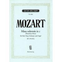 Mozart Missa in C KV 139 (47a) - Klavierauszug Edition Breitkopf