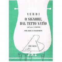Verdi O Signore, dal tetto natìo per coro e pianoforte - Ricordi