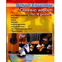 School Ensemble Baroque album for 4 guitars - Carisch