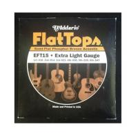Muta di corde D' addario EFT15 Flat Tops 010-047 Semi-Flat Phosphor Bronze Acoustic