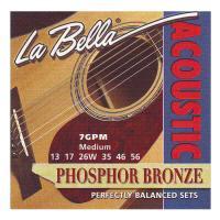 La Bella 7GPM Medium Phosphor Bronze Muta di corde per chitarra acustica