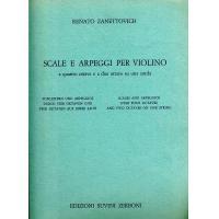 Zanettovich Scale e Arpeggi per Violino a quattro ottave e a due ottave su una corda - Edizioni Suvini Zerboni