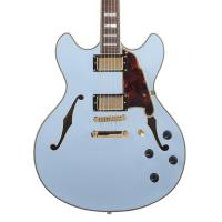 Chitarra D' Angelico DELUXE DC Matte Powder Blue LTD Set up e spedizione inclusa