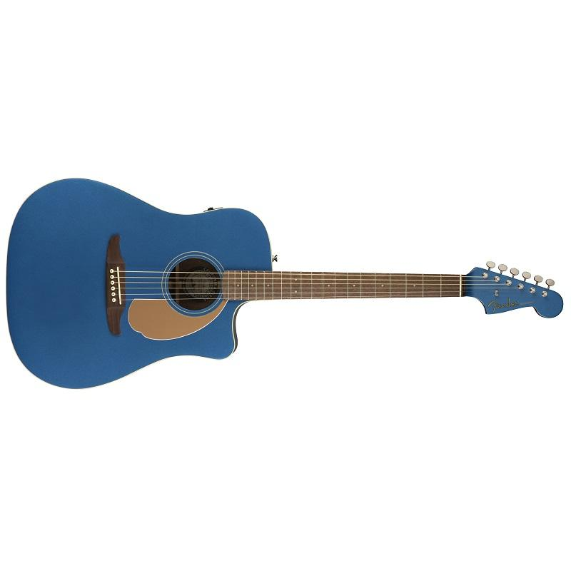 Fender Redondo Player Belmont Blue WN Chitarra Acustica Elettrificata