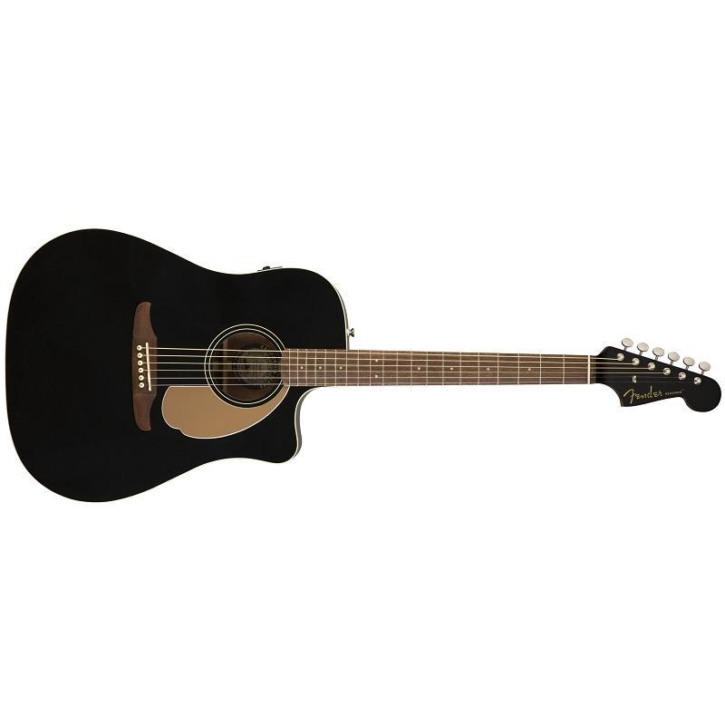 Fender Redondo Player Jetty Black WN Chitarra Acustica Elettrificata