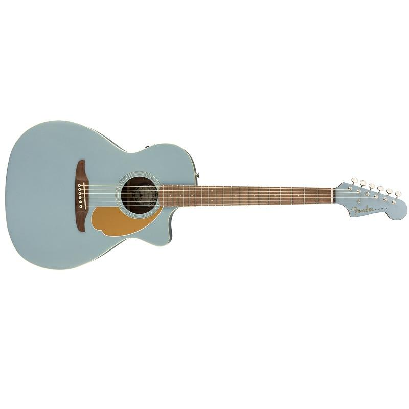 Fender Newporter Player Ice Blue Satin WN Chitarra Acustica Elettrificata