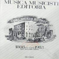 Musica Musicisti Editoria - Ricordi