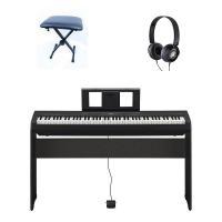 Yamaha P45 B + Stand L85 B + Panca in Metallo e Cuffie Yamaha HPH50 alimentatore leggio e pedale inclusi Pianoforte Digitale