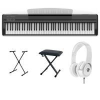 ORLA STAGE STARTER BLACK PIANOFORTE DIGITALE  + SUPPORTO A X + PANCA E CUFFIE - ALIMENTATORE, LEGGIO E PEDALE INCLUSO CONSEGNATO A DOMICILIO IN 1-2 GIORNI SPEDITO GRATIS