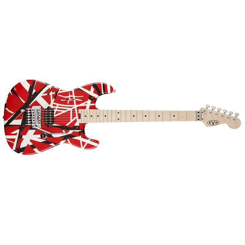 EVH Stripes Red with Black Stripes Chitarra Elettrica