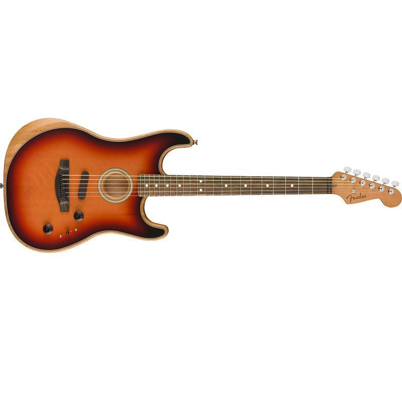 Fender American Acoustasonic Stratocaster EB 3TS MADE IN USA Chitarra