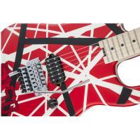 EVH Striped Series 5150 MN Red with Black and White Stripes Chitarra Elettrica_3