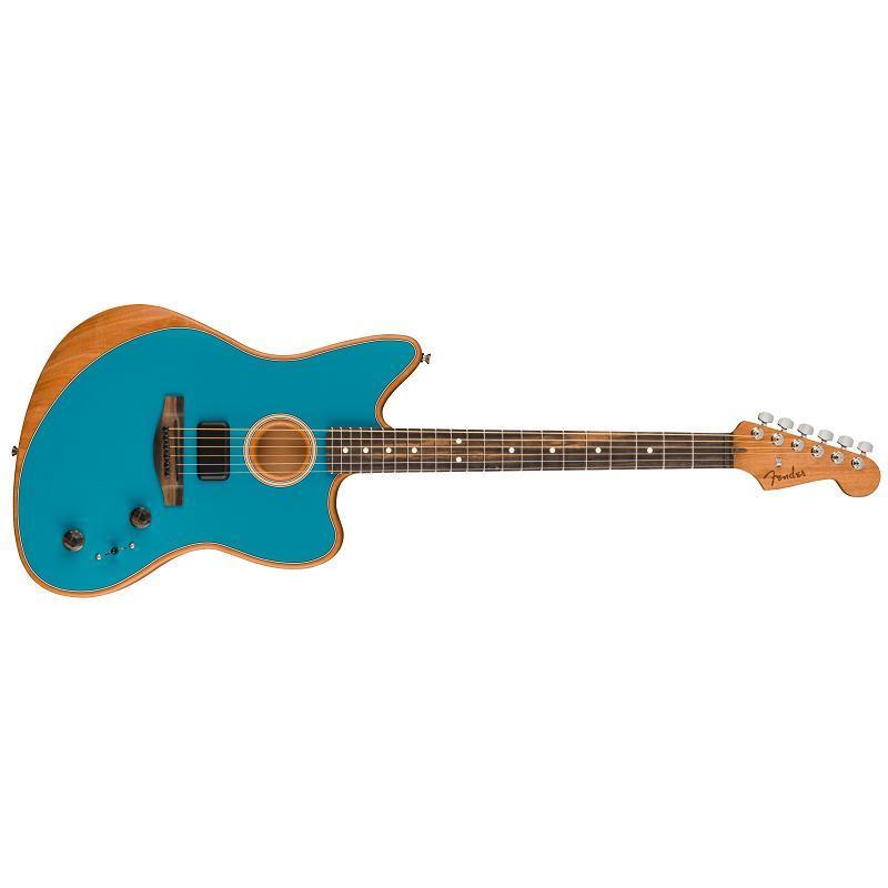 Fender American Acoustasonic Jazzmaster EB OCT Ocean Turquoise MADE IN USA Chitarra