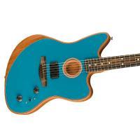 Fender American Acoustasonic Jazzmaster EB OCT Ocean Turquoise MADE IN USA Chitarra_3