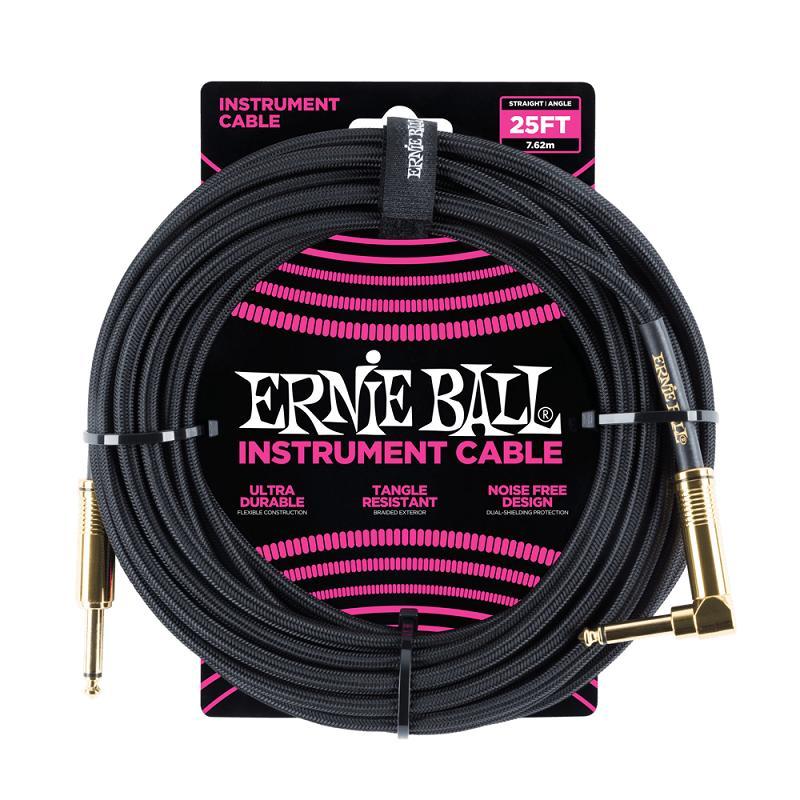 Ernie Ball 6058 Cavo Braided Black/Black 7,6 m