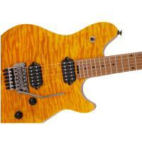 EVH Wolfgang WG Standard Quilt Maple Transparent Amber Chitarra Elettrica _3