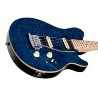 Sterling AX3FM Axis Flame Maple Top Neptune Blue Chitarra elettrica_3